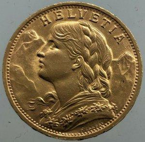 EUROPA - SVIZZERA 20 Francs ...