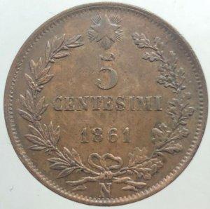 5 Centesimi 1861 Napoli Testa ...