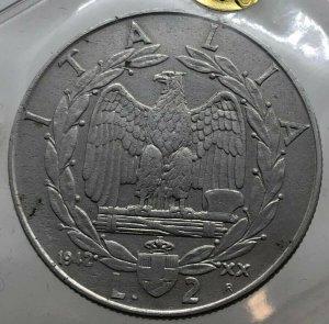 2 Lire Impero 1942, ...