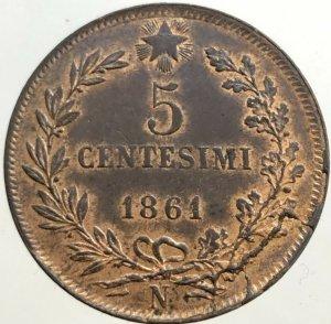 Testa Tozza 5 Centesimi 1861 ...