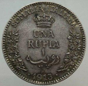 Rupia 1913 Somalia , Ag ...