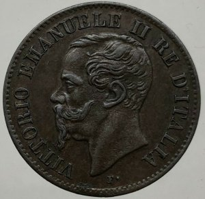 2 Centesimi 1861 Napoli , Ae ...