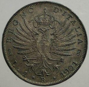 1 lira 1901 Aquila Sabauda , Ag ...