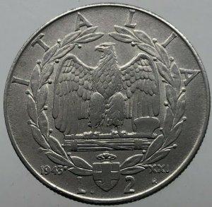 2 Lire Impero 1943 , Ac , rif. ...