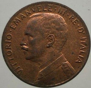 2 Centesimi Prora 1910 , Ae ...