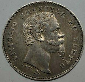 1 Lira 1860 Firenze Mano Con ...